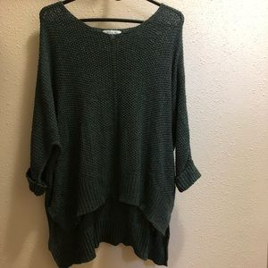 Evergreen Sweater with slight Vneck